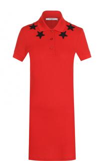 Платье-поло с отделкой в виде звезд Givenchy