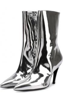 Ботильоны из металлизированной кожи на фигурной шпильке Balenciaga
