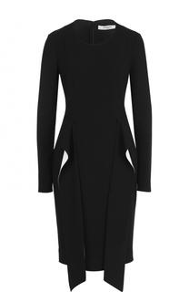 Приталенное платье-миди с оборками Givenchy
