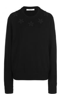 Удлиненный пуловер с круглым вырезом Givenchy