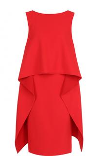 Платье-миди без рукавов с оборками Givenchy