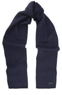 Шерстяной шарф в клетку Armani Collezioni