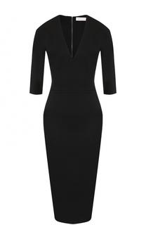 Платье-футляр с укороченным рукавом и V-образным вырезом Victoria Beckham
