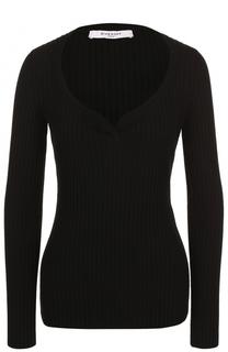 Пуловер фактурной вязки с V-образным вырезом Givenchy