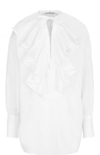 Хлопковая блуза свободного кроя с оборками Tome