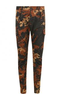 Хлопковые брюки карго с камуфляжным принтом Dsquared2