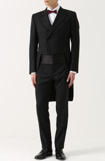 Шерстяной смокинг-тройка с шелковой отделкой Dolce & Gabbana