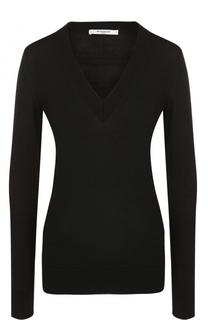 Шерстяной пуловер с V-образным вырезом Givenchy