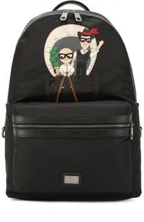 Рюкзак Vulcano с нашивками Dolce & Gabbana