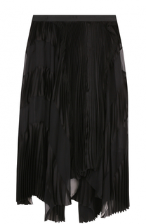 Плиссированная юбка-миди асимметричного кроя Sacai