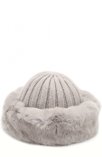 Вязаная шапка из шерсти с меховой отделкой Nima