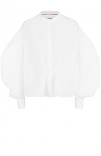 Блуза свободного кроя со спущенными рукавами-фонарик Burberry