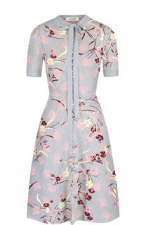 Вязаное платье-миди с принтом Valentino