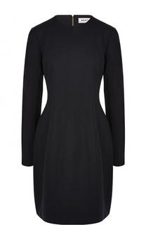 Приталенное мини-платье с длинным рукавом DKNY