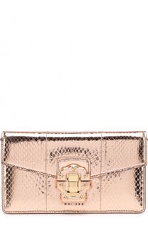 Клатч Lucia из металлизированной кожи Dolce & Gabbana