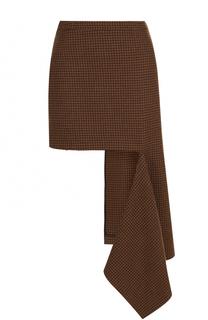 Шерстяная мини-юбка асимметричного кроя Balenciaga