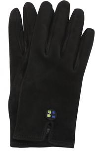 Замшевые перчатки с декоративной отделкой Giorgio Armani
