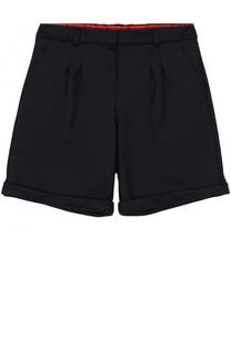 Шерстяные шорты с отворотами и защипами Dolce & Gabbana