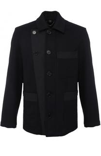Укороченное кашемировое пальто с накладными карманами Burberry