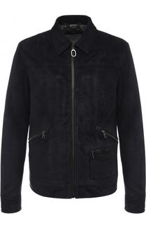 Замшевая куртка на молнии с шерстяной подкладкой Lanvin