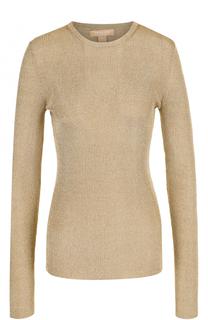Пуловер фактурной вязки с круглым вырезом Michael Kors