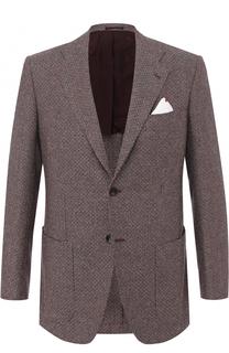 Кашемировый однобортный пиджак Kiton