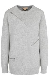 Вязаный пуловер с декоративными молниями Michael Kors