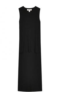 Платье-миди фактурной вязки без рукавов Diane Von Furstenberg