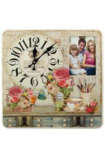 Коллаж-ключница, часы Прованс Русские подарки