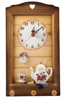 Коллаж-часы Цветы Русские подарки