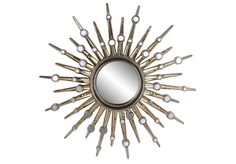 """Зеркало-солнце в раме """"Nova Chrome Plating"""" Art Zerkalo"""