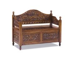 Скамья резная с ящиком для хранения Qualitative Furniture