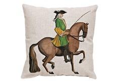 Декоративная подушка «Верховая езда, Урок № 10» Object Desire