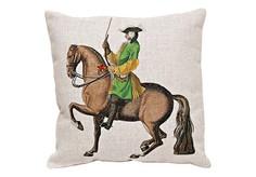 Декоративная подушка «Верховая езда, Урок № 12» Object Desire