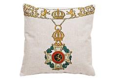 Декоративная подушка «Орден Леопольда I, Бельгия» Object Desire