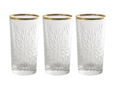 """Набор стаканов для воды """"Умбрия - золото"""" (6 шт) Same"""