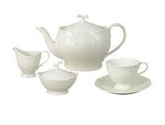 """Чайный сервиз из 15 предметов на 6 персон """"Белый город"""" Narumi"""