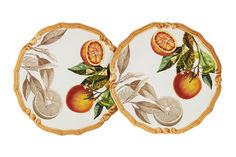 """Набор из 2-х десертных тарелок """"Апельсины"""" LCS"""