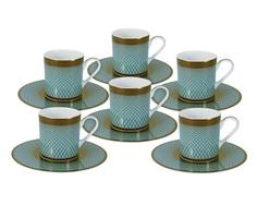 """Кофейный набор """"Бирюза"""": 6 чашек + 6 блюдец Naomi"""