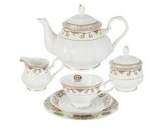 """Чайный сервиз 21 предмет на 6 персон """"Версаче"""" Emerald"""