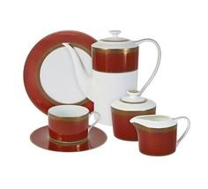 "Чайный сервиз 21 предмет на 6 персон ""Кармен"" Naomi"