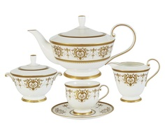 "Чайный сервиз из 17 предметов на 6 персон ""Тиара Голд"" Narumi"