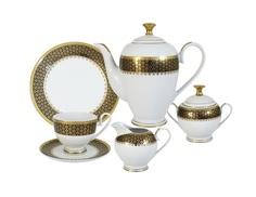"""Чайный сервиз 23 предмета на 6 персон """"Чёрное золото"""" Midori"""