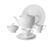 """Чайный сервиз 40 предметов на 12 персон """"Белый город"""" Emerald"""