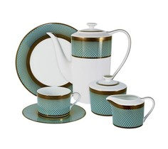 """Чайный сервиз 21 предметов на 6 персон """"Бирюза"""" Naomi"""