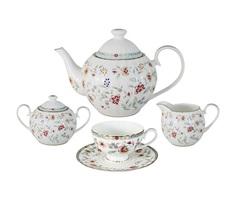 """Чайный сервиз из 15 предметов на 6 персон """"Грейс"""" Midori"""