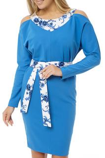 Платье с цельнокроеным длинным рукавом Gloss