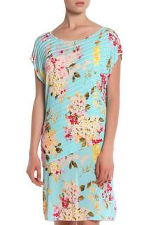 Приталенное платье с цветочным принтом Blumarine