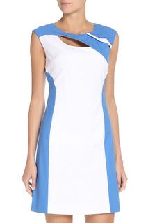 Платье-трапеция с контрастными вставками Stella Di Mare