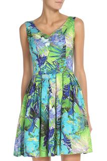 Принтованное платье с V-образным вырезом Stella Di Mare